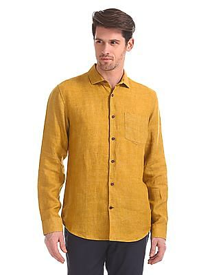 Arvind Slim Fit Linen Shirt