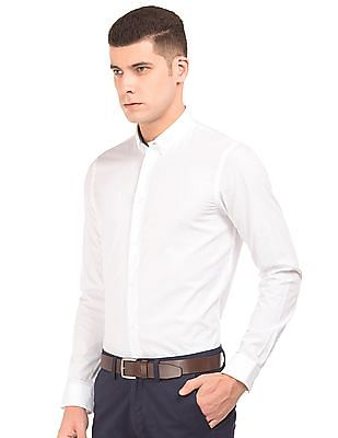 Arrow Newyork Patterned Weave Slim Fit Shirt