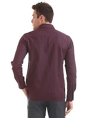 Arrow Slim Fit Patterned Check Shirt
