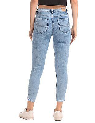 Aeropostale Jegging Fit Acid Wash Jeans