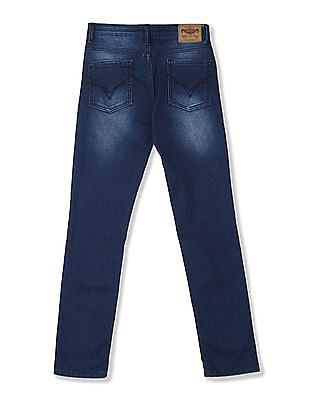 FM Boys Blue Boys Mid Rise Whiskered Jeans