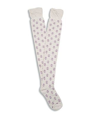 Aeropostale Over The Knee Length Patterned Socks