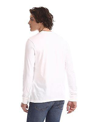 Aeropostale White Printed Long Sleeve T-Shirt