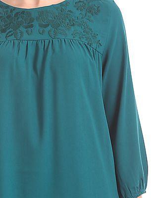 Cherokee Embroidered Empire Waist Dress