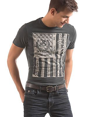 d05eca56 Buy Men Printed Muscle Fit T-Shirt online at NNNOW.com