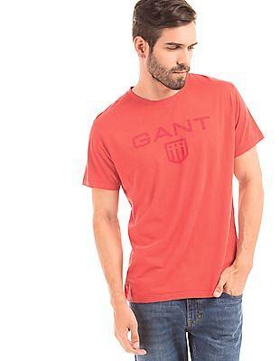 Gant Regular Fit Brand Print T-Shirt