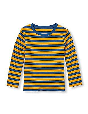 The Children's Place Toddler Boy Gold Long Sleeve Striped Tee