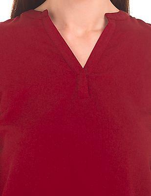 Arrow Woman Mandarin Collar Regular Fit Top