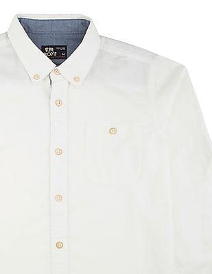 FM Boys Boys Slim Fit Button Down Shirt