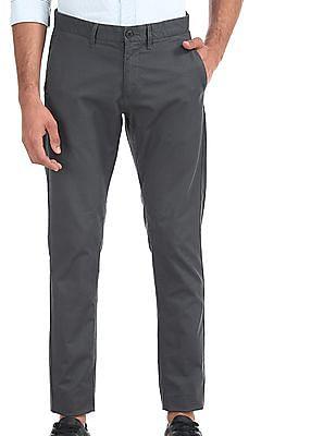 U.S. Polo Assn. Blue Austin Trim Regular Fit Printed Trousers