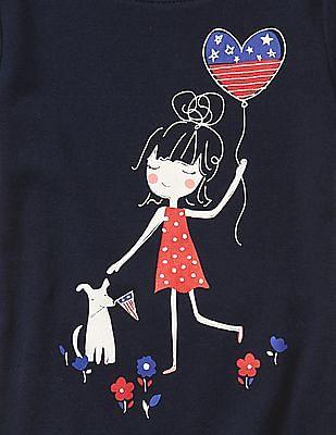 GAP Baby Blue Americana Day Short Sleep Set