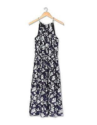 U.S. Polo Assn. Women Strappy Fit And Flare Floral Print Dress