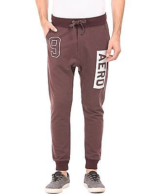 Aeropostale Ribbed Trim Heathered Joggers