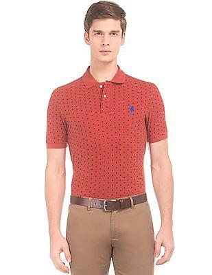 U.S. Polo Assn. Polka Print Slim Fit Polo Shirt
