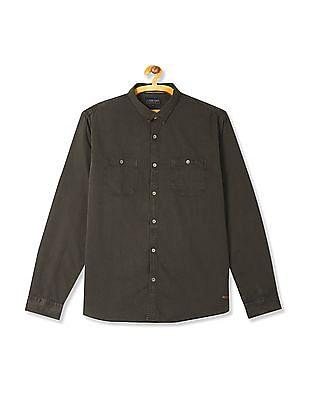 Cherokee Slim Collar Long Sleeve Shirt
