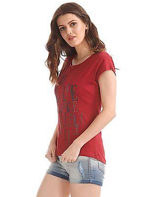 Elle Crossover Strap Embellished Top