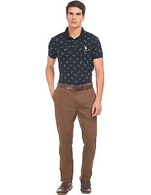U.S. Polo Assn. Slim Fit Printed Polo Shirt
