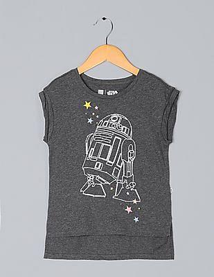GAP Girls Grey GapKids & Star Wars? Graphic T-Shirt
