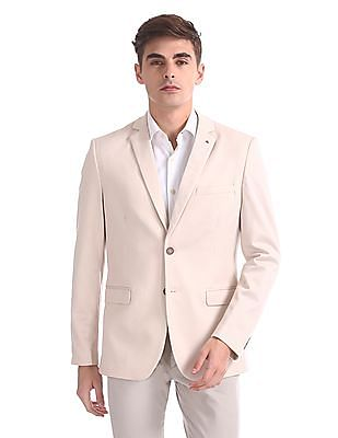 Arrow Zero Calorie Slim Fit Single Breasted Blazer