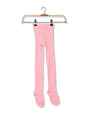 U.S. Polo Assn. Kids Girls Patterned Knit Stockings