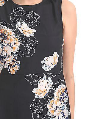 Elle Studio Floral Print A-Line Dress