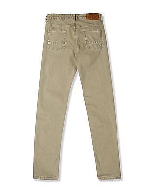 Cherokee Green Boys Slim Fit Mid Waist Jeans