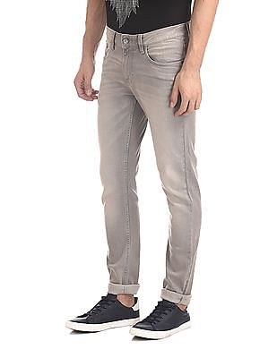 Cherokee Grey Slim Fit Washed Jeans