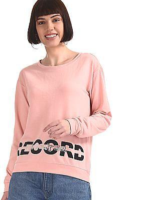 SUGR Pink Crew Neck Active Sweatshirt