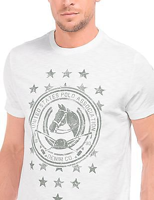 U.S. Polo Assn. Denim Co. Crew Neck Printed T-Shirt