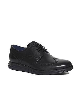 Cole Haan Black OriginalGrand Wingtip Shoes