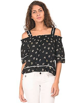 SUGR Printed Crop Top
