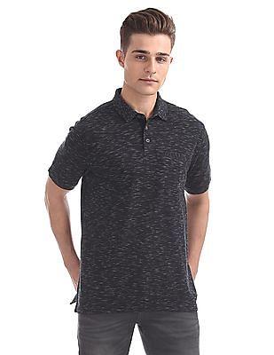 Cherokee Muscle Fit Slubbed Polo Shirt