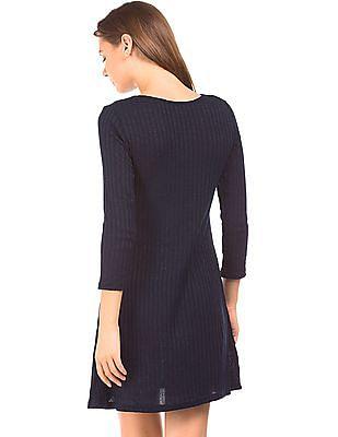 Elle Long Sleeve Shimmer Shift Dress