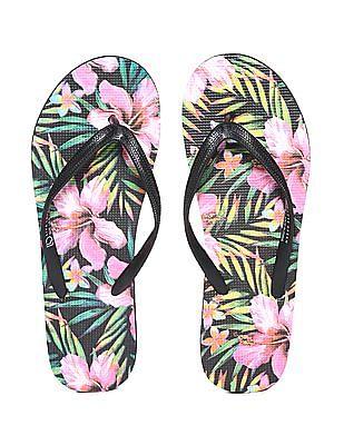 Aeropostale Tropical Print Flip Flops Multi-colour