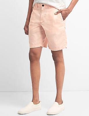 GAP Men Pink Chino Shorts In Linen