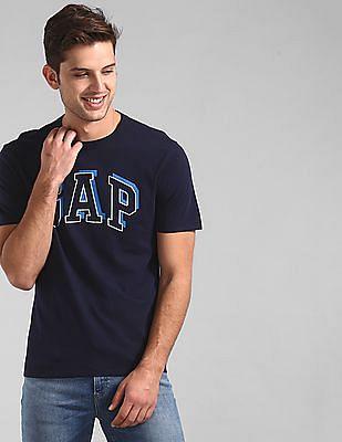 GAP Blue Rubber Print Logo T-Shirt