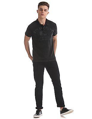 Ed Hardy Slim Fit Printed Polo Shirt