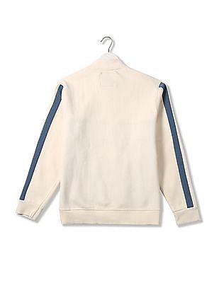 Flying Machine Regular Fit Colorblocked Sweatshirt