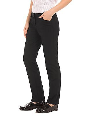 Arrow Woman Mid Rise Regular Fit Trousers