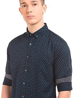 Flying Machine Button Down Printed Shirt