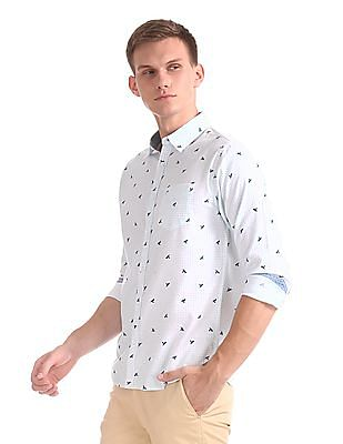 Roots by Ruggers Contrast Print Check Shirt