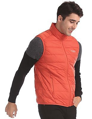 U.S. Polo Assn. Orange Solid Gilet Jacket