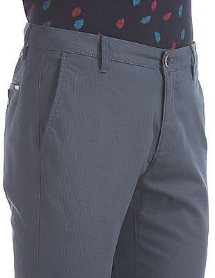 U.S. Polo Assn. Blue Austin Trim Regular Fit Twill Trousers