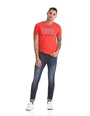 Ruf & Tuf Skinny Fit Lightly Distressed Jeans