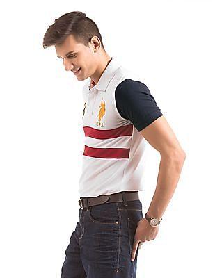 U.S. Polo Assn. Colour Block Slim Fit Polo Shirt