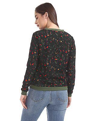 SUGR Floral Printed Bomber Jacket