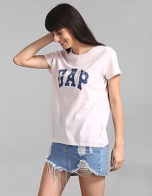 GAP Pink Gap Logo Pocket T-Shirt