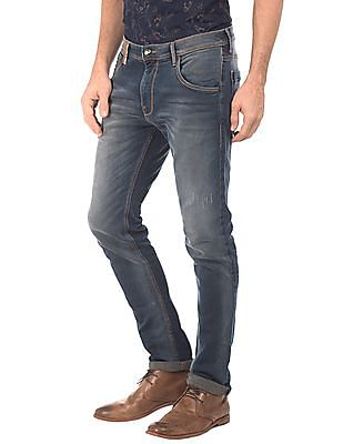 Ed Hardy Super Slim Fit Stone Wash Jeans