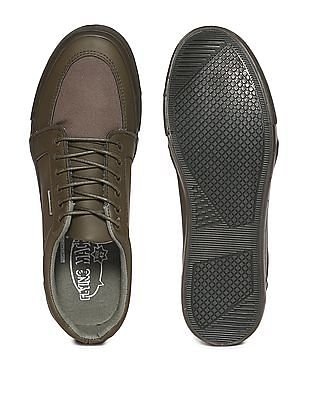 Flying Machine Solid Panelled Sneakers