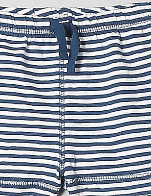 GAP Baby Blue Stripe Knit Shorts